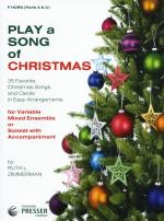 Play A Song Of Christmas - Variable Mixed Ensemble Or Solo With Accompaniment (F Horn) Sheet Music