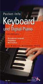 Pocket-Info Keyboard und Digital-Piano Sheet Music
