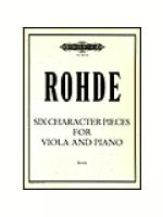 Six Character Pieces for Viola and Piano Sheet Music