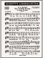 4 weltliche Kanons Sheet Music