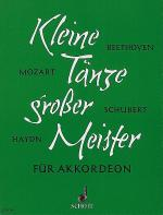 Kleine Tanze grosser Meister Sheet Music