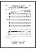 All Praise to Thee, for Thou, O King Sheet Music