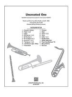Uncreated One Sheet Music