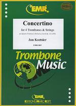 Concertino fur 4 Posaunen Sheet Music
