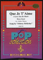 Que je t'aime (sung by Johnny Hallyday) Sheet Music