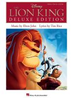 Elton John/Tim Rice: The Lion King - Deluxe Edition Sheet Music