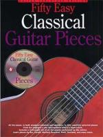 Music Sales 50 Easy Classical Guitar Piece Sheet Music