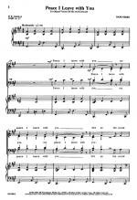 Peace I Leave With You Sheet Music Sheet Music