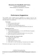 Responses For Handbells And Voices Sheet Music Sheet Music