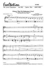 I Know That My Redeemer Lives Sheet Music Sheet Music