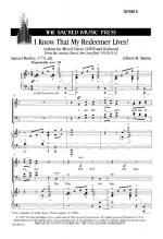 I Know That My Redeemer Lives - SATB Sheet Music Sheet Music
