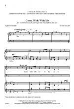 Come Walk With Me Sheet Music Sheet Music