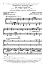 Thanks And Blessings Flow Sheet Music Sheet Music