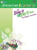 Bookful of Springtime Festivals - Book & CD Sheet Music