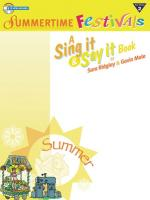 Bookful of Summertime Festivals - Book & CD Sheet Music