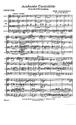 Andante Cantabile Brass quartet Sheet Music