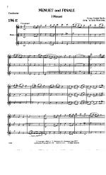 Menuet And Finale Flute trio Sheet Music