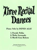 Three Recital Dances - Piano Solo SOLO PART Sheet Music