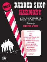 Barber Shop Harmony - Book Sheet Music
