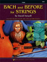 Bach And Before For Strings - Violin Sheet Music