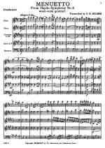 Menuetto From Symphony Number 2 Woodwind quintet Sheet Music