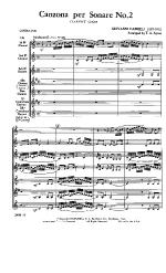 Canzona Per Sonare Number 2 Clarinet choir Sheet Music
