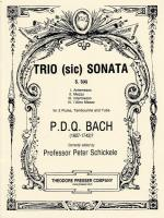Trio (Sic) Sonata - For 2 Flutes, Tambourine And Tuba S 3 (4) SCORE AND PART(S) Sheet Music