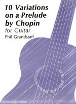 10 Variations On A Prelude By Chopin - For Guitar Opus 24 SOFT COVER Sheet Music