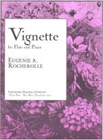 Vignette - For Flute And Piano SOLO PART WITH PIANO REDUCTION Sheet Music