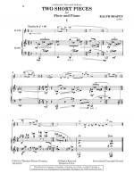 Two Short Pieces - For Flute And Piano SOLO PART WITH PIANO REDUCTION Sheet Music