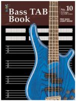 Manuscript Book 10 - Bass Tab Book Sheet Music
