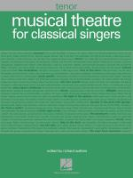 Musical Theatre For Classical Singers Tenor, 48 Songs Sheet Music