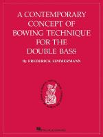 A Contemporary Concept Of Bowing Technique For The Double Bass Sheet Music