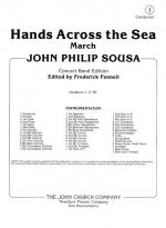 Hands Across The Sea - March CONDENSED SCORE Sheet Music