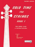 Solo Time For Strings, Book 1 Sheet Music