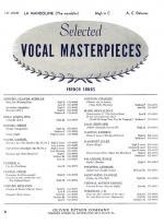 La Mandoline - For Voice And Piano (The Mandolin) PIANO REDUCTION/VOCAL SCORE Sheet Music