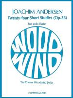 24 Short Studies (Opus 33) For Flute Solo Sheet Music