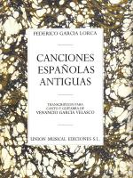 Canciones Espanolas Antiguas Voice And Guitar Sheet Music