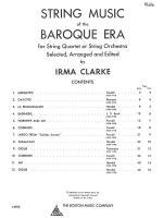 String Music Of The Baroque Era - Viola Sheet Music Sheet Music
