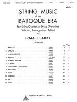 String Music Of The Baroque Era - Violin Book 1 Sheet Music
