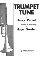 Trumpet Tune Sheet Music Sheet Music