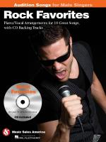 Rock Favorites - Audition Songs For Male Singers Piano/Vocal/Chords Arrangements With CD Backing Tra Sheet Music