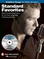 Standard Favorites - Audition Songs For Male Singers Piano/Vocal/Chords Arrangements With CD Backing Sheet Music