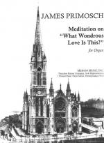 Meditation On 'what Wondrous Love Is This? - For Organ SOLO PART Sheet Music