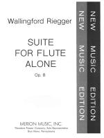 Suite For Flute Alone - Opus 8 SOLO PART Sheet Music