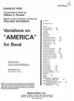 Variations On America-Full Score - For Band FULL SCORE - LARGE Sheet Music