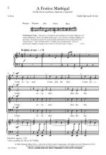 A Festive Madrigal Sheet Music Sheet Music