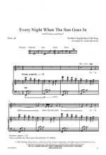 Every Night When The Sun Goes In Sheet Music Sheet Music
