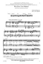 We Give You Music! Sheet Music Sheet Music