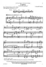 Legacy Sheet Music Sheet Music